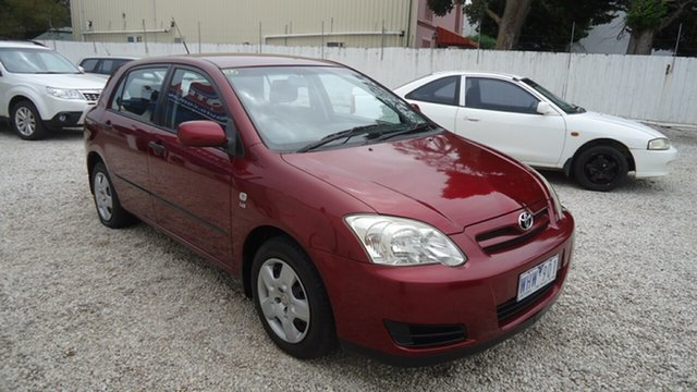 Used Toyota Corolla ZZE122R 5Y Ascent, 2006 Toyota Corolla ZZE122R 5Y Ascent Red 4 Speed Automatic Hatchback