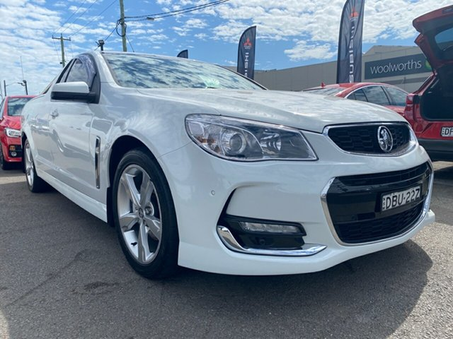 Used Holden Ute VF II MY16 SV6 Ute, 2015 Holden Ute VF II MY16 SV6 Ute White 6 Speed Sports Automatic Utility
