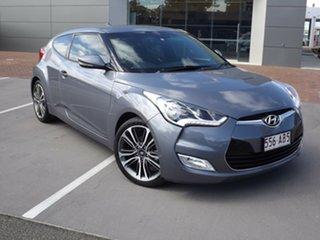 2016 Hyundai Veloster FS4 Series II + Coupe Grey 6 Speed Manual Hatchback.