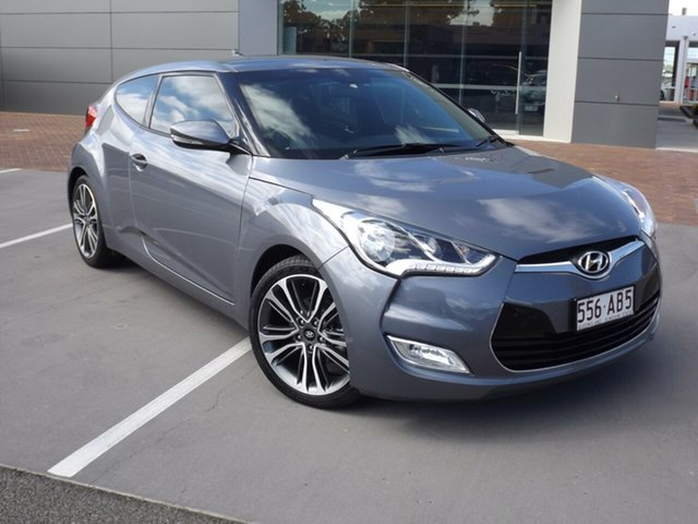 Used Hyundai Veloster FS4 Series II + Coupe Toowoomba, 2016 Hyundai Veloster FS4 Series II + Coupe Grey 6 Speed Manual Hatchback