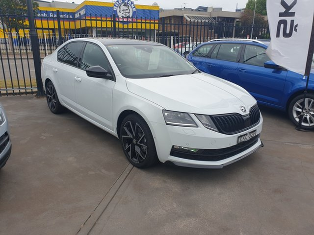 Demo Skoda Octavia NE MY20 Sport Sedan DSG 110TSI, 2019 Skoda Octavia NE MY20 Sport Sedan DSG 110TSI Moon White 7 Speed Sports Automatic Dual Clutch