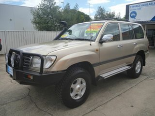 2005 Toyota Landcruiser HDJ100R GXL Gold 5 Speed Automatic Wagon.
