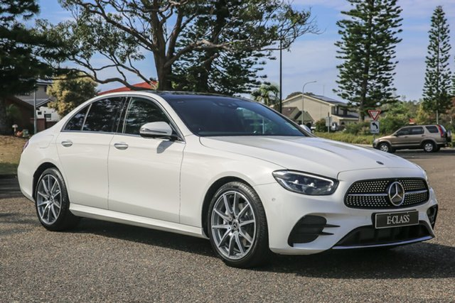 New Mercedes-Benz E-Class W213 800+050MY E200 9G-Tronic PLUS Port Macquarie, 2020 Mercedes-Benz E-Class W213 800+050MY E200 9G-Tronic PLUS Polar White 9 Speed Sports Automatic