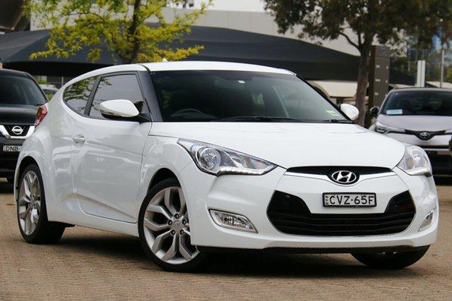 Used Hyundai Veloster FS3 +, 2014 Hyundai Veloster FS3 + White 6 Speed Auto Dual Clutch Coupe