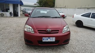 2006 Toyota Corolla ZZE122R 5Y Ascent Red 4 Speed Automatic Hatchback