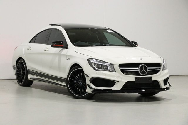 Used Mercedes-Benz CLA45 117 MY15 AMG, 2015 Mercedes-Benz CLA45 117 MY15 AMG Cirrus White 7 Speed Automatic Coupe