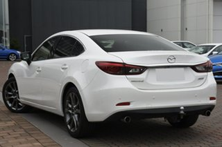 2014 Mazda 6 GJ1021 Atenza SKYACTIV-Drive White 6 Speed Sports Automatic Sedan.