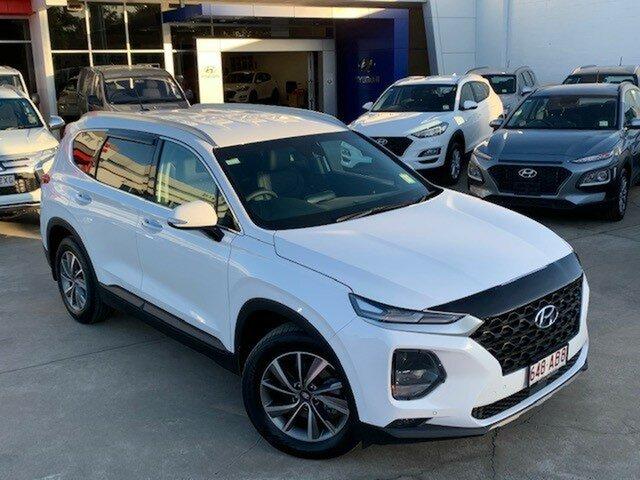 Demo Hyundai Santa Fe TM.2 MY20 Active X, 2020 Hyundai Santa Fe TM.2 MY20 Active X White Cream 8 Speed Sports Automatic Wagon