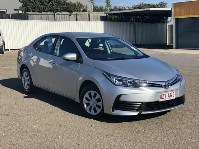Used Toyota Corolla ZRE172R Ascent S-CVT Chermside, 2018 Toyota Corolla ZRE172R Ascent S-CVT Silver 7 Speed Constant Variable Sedan