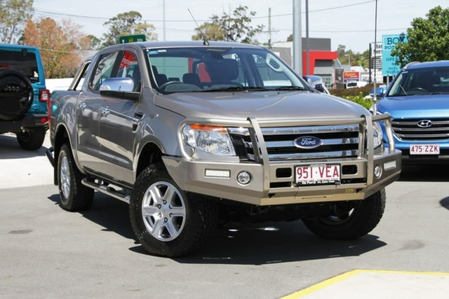Used Ford Ranger PX XLT Double Cab, 2014 Ford Ranger PX XLT Double Cab Gold 6 Speed Sports Automatic Utility