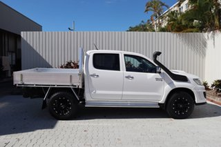 2015 Toyota Hilux KUN26R MY14 SR5 Double Cab White 5 Speed Manual Utility.