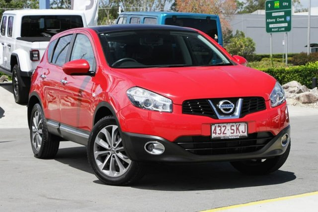 Used Nissan Dualis J10 Series II MY2010 Ti X-tronic AWD Aspley, 2012 Nissan Dualis J10 Series II MY2010 Ti X-tronic AWD Red 6 Speed Constant Variable Hatchback