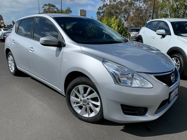 Used Nissan Pulsar C12 ST Bunbury, 2014 Nissan Pulsar C12 ST Silver 1 Speed Constant Variable Hatchback