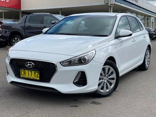 2018 Hyundai i30 Go White Sports Automatic Hatchback.