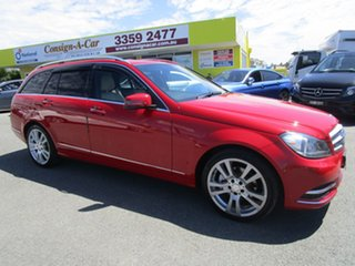 2013 Mercedes-Benz C-Class W204 MY13 C250 Estate 7G-Tronic + Avantgarde Red 7 Speed Sports Automatic.
