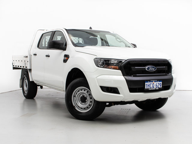 Used Ford Ranger PX MkII XL 2.2 (4x4), 2016 Ford Ranger PX MkII XL 2.2 (4x4) White 6 Speed Automatic Crew Cab Chassis