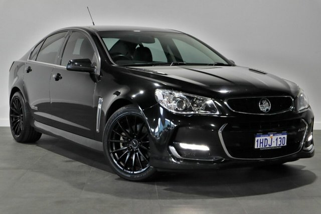 Used Holden Commodore VF II MY16 SS V, 2015 Holden Commodore VF II MY16 SS V Black 6 Speed Manual Sedan