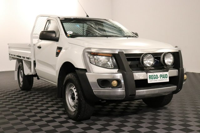 Used Ford Ranger PX XL, 2013 Ford Ranger PX XL White 6 speed Automatic Cab Chassis