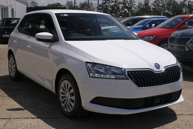 New Skoda Fabia NJ MY21 81TSI DSG Run-Out Edition Botany, 2021 Skoda Fabia NJ MY21 81TSI DSG Run-Out Edition Candy White 7 Speed Sports Automatic Dual Clutch