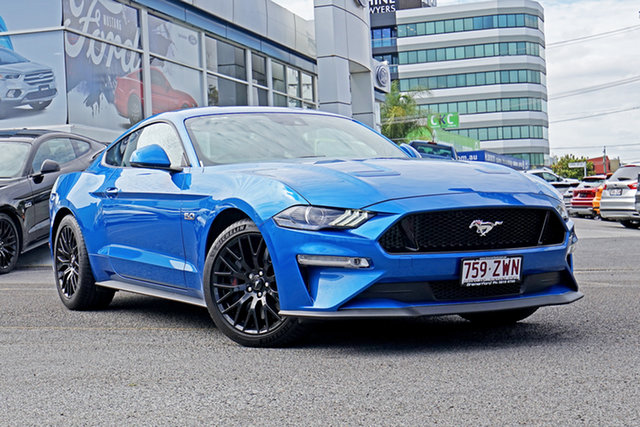 Used Ford Mustang FN 2020MY GT, 2019 Ford Mustang FN 2020MY GT Velocity Blue 10 Speed Sports Automatic Fastback