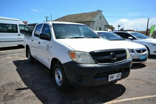 2006 Toyota Hilux TGN16R 06 Upgrade Workmate White 5 Speed Manual Dual Cab Pick-up.