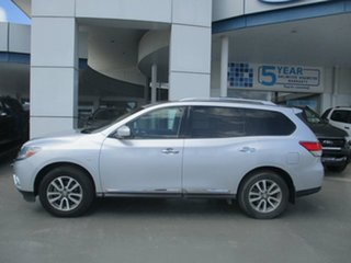 2013 Nissan Pathfinder R52 ST-L (4x4) Silver Continuous Variable Wagon.