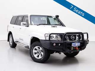 2015 Nissan Patrol GU Series 9 ST (4x4) White 5 Speed Manual Wagon.