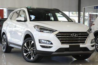 2020 Hyundai Tucson TL3 MY21 Highlander AWD White Pearl 8 Speed Sports Automatic Wagon.