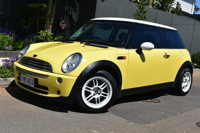 Used Mini Hatch R50 MY03 Cooper, 2004 Mini Hatch R50 MY03 Cooper Yellow 6 Speed Constant Variable Hatchback