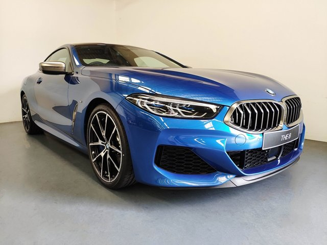 Demo BMW 8 Series G15 M850i xDrive Steptronic AWD, 2020 BMW 8 Series G15 M850i xDrive Steptronic AWD Sonic Speed Blue 8 Speed Sports Automatic Coupe