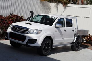 2015 Toyota Hilux KUN26R MY14 SR5 Double Cab White 5 Speed Manual Utility