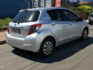 2014 Toyota Yaris NCP130R YR Silver 4 Speed Automatic Hatchback.