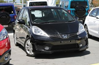 2012 Honda Jazz GE MY12 Vibe-S Black 5 Speed Automatic Hatchback.