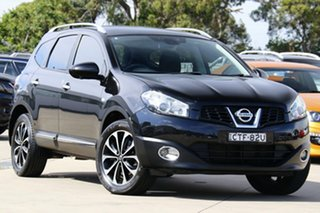 2013 Nissan Dualis J10 MY13 +2 TI-L (4x4) Black 6 Speed CVT Auto Sequential Wagon.
