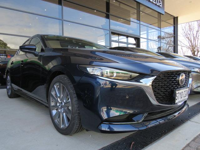 Demo Mazda 3 BP2S76 G20 SKYACTIV-MT Touring, 2019 Mazda 3 BP2S76 G20 SKYACTIV-MT Touring Deep Crystal Blue 6 Speed Manual Sedan