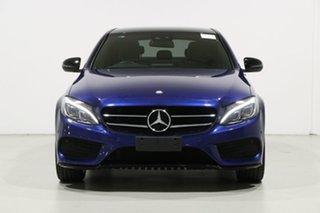 2016 Mercedes-Benz C200 205 MY16 Night Edition Blue 7 Speed Automatic Sedan.