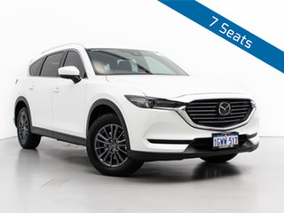 2019 Mazda CX-8 KG MY18 Sport (FWD) (5Yr) Snowflake White Pearl 6 Speed Automatic Wagon.