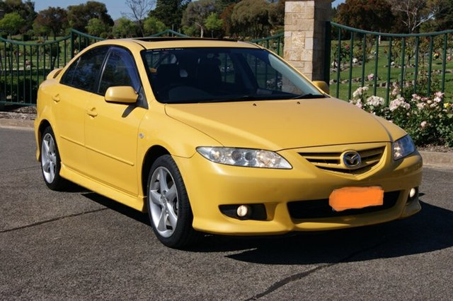 Used Mazda 6 GG Luxury Sports, 2003 Mazda 6 GG Luxury Sports Yellow 4 Speed Auto Activematic Hatchback
