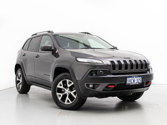 Used Jeep Cherokee KL Trailhawk (4x4), 2014 Jeep Cherokee KL Trailhawk (4x4) Grey 9 Speed Automatic Wagon