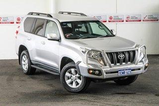 2014 Toyota Landcruiser Prado KDJ150R MY14 GXL Silver Pearl 5 Speed Sports Automatic Wagon.