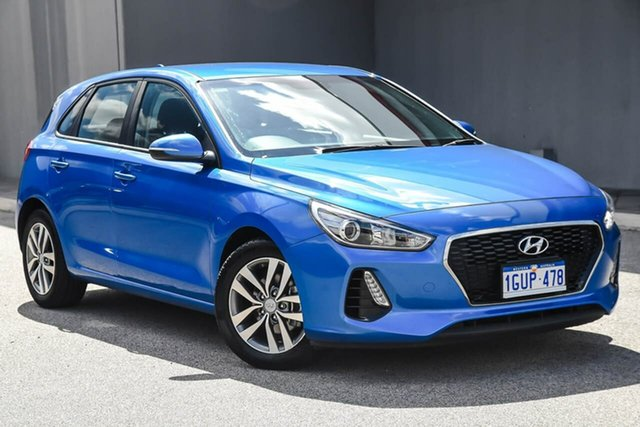 Used Hyundai i30 PD MY18 Active, 2017 Hyundai i30 PD MY18 Active Blue 6 Speed Sports Automatic Hatchback