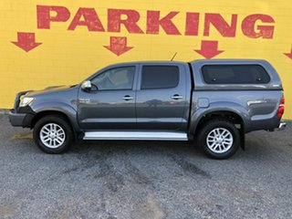 2013 Toyota Hilux KUN26R MY14 SR5 Double Cab Silver 5 Speed Manual Utility