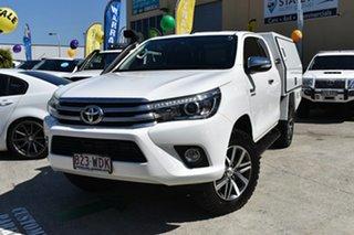 2015 Toyota Hilux GUN126R SR5 (4x4) White 6 Speed Manual X Cab Utility
