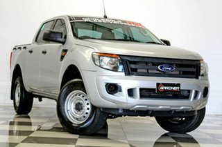2015 Ford Ranger PX XL 2.2 Hi-Rider (4x2) Silver 6 Speed Automatic Crew Cab Pickup.