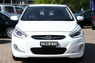 2013 Hyundai Accent RB3 SR White 6 Speed Automatic Hatchback