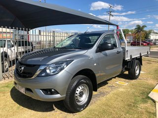 2017 Mazda BT-50 MY17 Update XT Hi-Rider (4x2) Silver 6 Speed Manual Cab Chassis.
