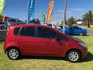 2008 Mitsubishi Colt RG MY08 ES Red 5 Speed Manual Hatchback.