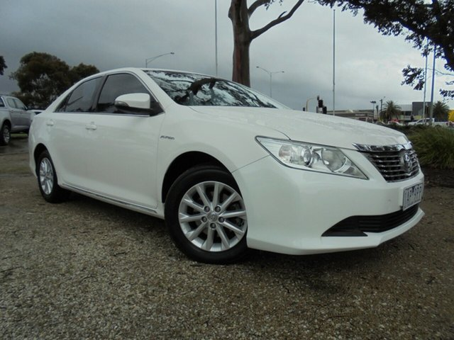 Used Toyota Aurion GSV50R AT-X, 2013 Toyota Aurion GSV50R AT-X Diamond White 6 Speed Sports Automatic Sedan