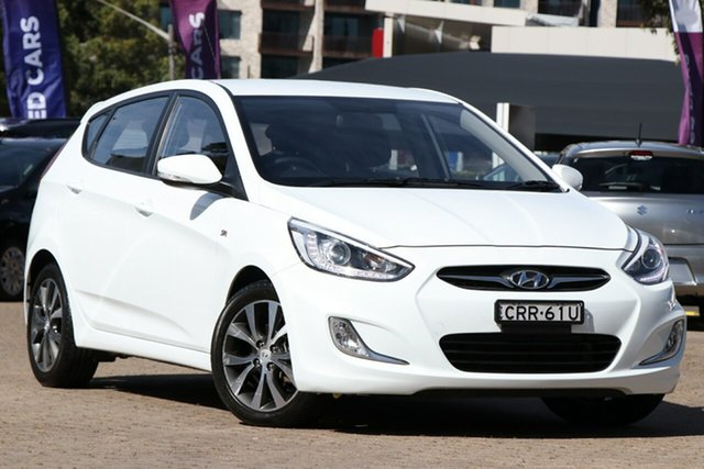 Used Hyundai Accent RB3 SR, 2013 Hyundai Accent RB3 SR White 6 Speed Automatic Hatchback
