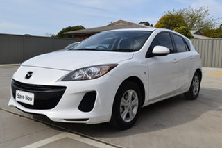 2011 Mazda 3 BL10F1 MY10 Neo Abalone White 6 Speed Manual Hatchback